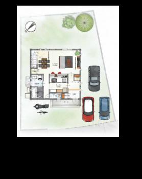 ①呉市焼山本庄ハイツの閑静な住宅街に建てられたモデルルームをご紹介いたします!!